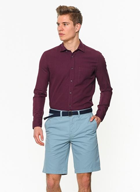 Mavi Şort | Slim, Straight Fit Mavi